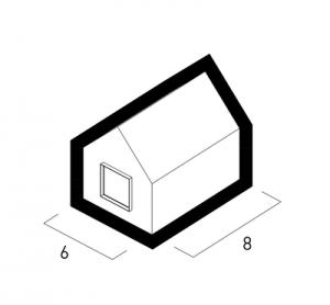 Pôdorys modelového domu