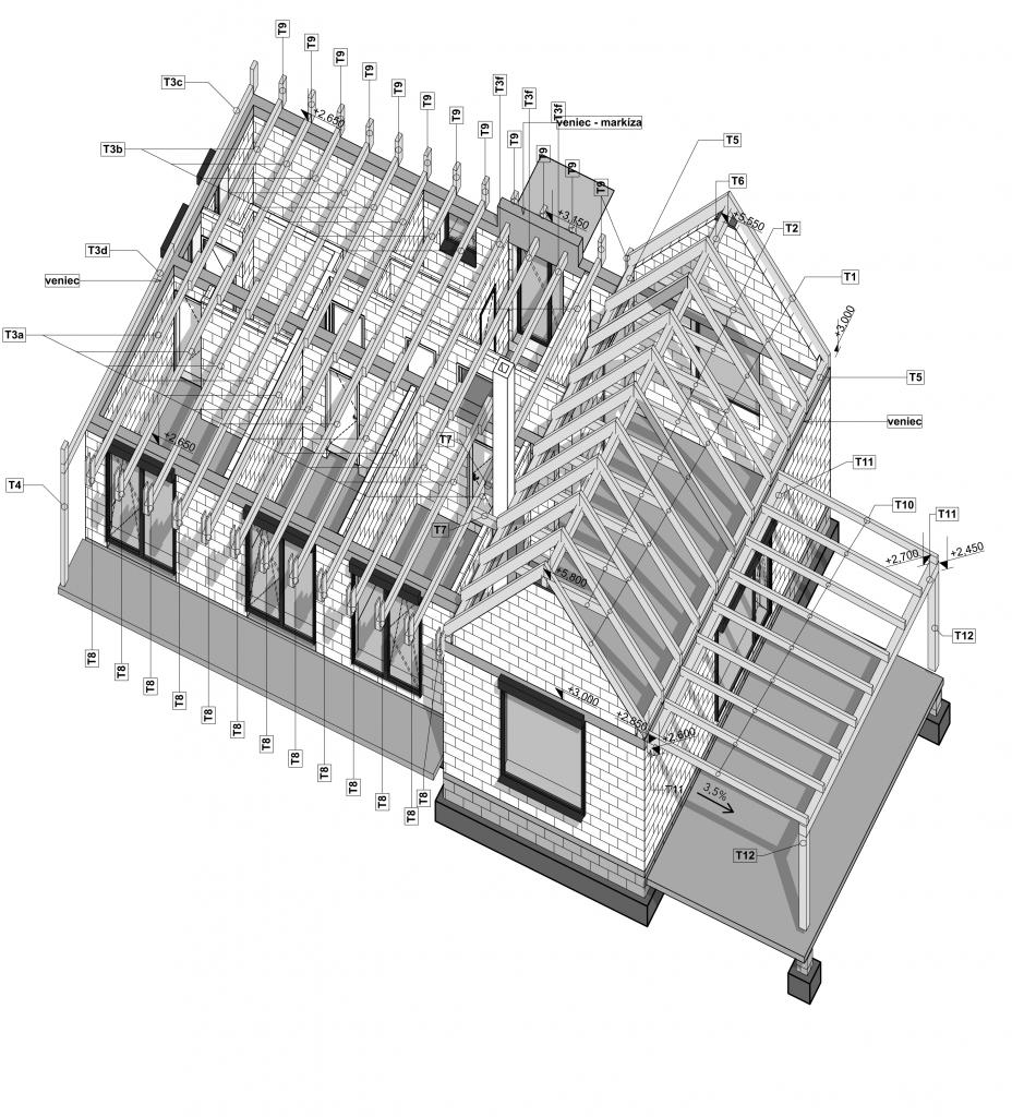 model rodinného domu v 3D